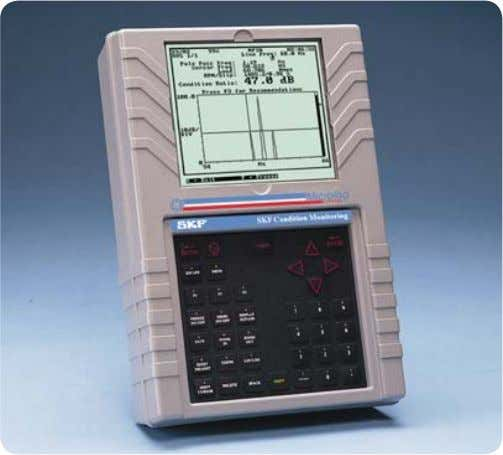 signal at 2x line frequency for any size or speed motor. Fig. 1. The SKF Microlog.