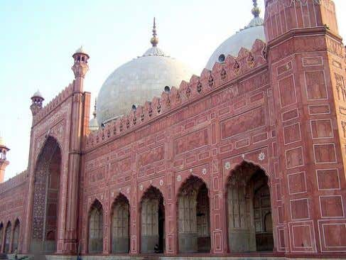 HOLY PLACES (MOSQUES) BADSHAHI MOSQUE The Badshahi Mosque or the 'Emperor's Mosque, was built in 1673