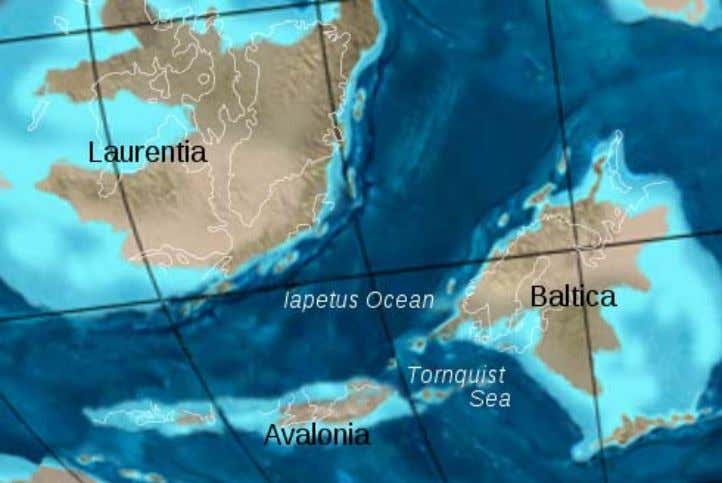 caused by the closure of the Iapetus Ocean when the continents and terranes of Laurentia, Baltica