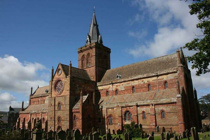 Notable buildings construc ted of Old Red Sandstone Scotland St. Magnus Cathedral, Kirkwall, Orkney, c onstructed