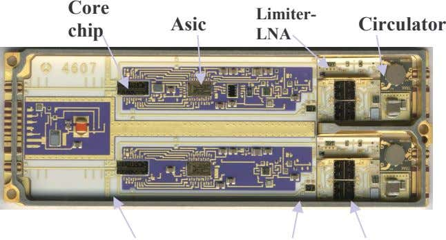 or miniaturized circulators 1 or 2 Chips External LNA 11 Aerospace   short-term solution mid-term solution