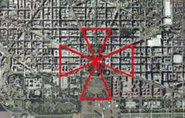"office, and a pentagram encoded in the streets/architecture. ""The Egyptian hierogram for the star Sirius consists"