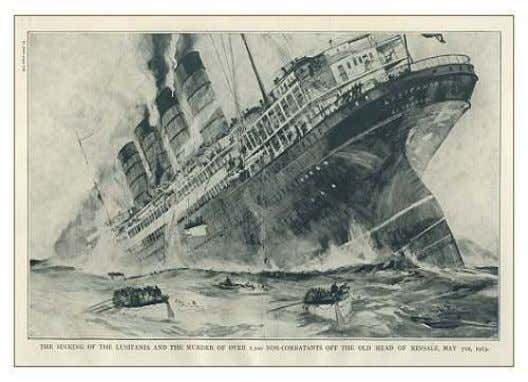 "called off Juno, leaving the Lusitania a sitting duck. ""British commander Joseph Kenworthy, on duty when"