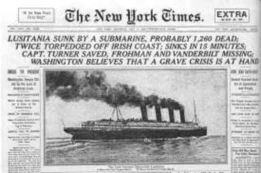 "author Simpson."" -Jim Marrs, ""Rule by Secrecy"" (189) ""The Lusitania was a ploy. It was packed"