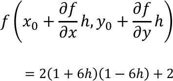 vector. The function can be expressed along this axis as: Using initial guesses, x=-1 and y=1