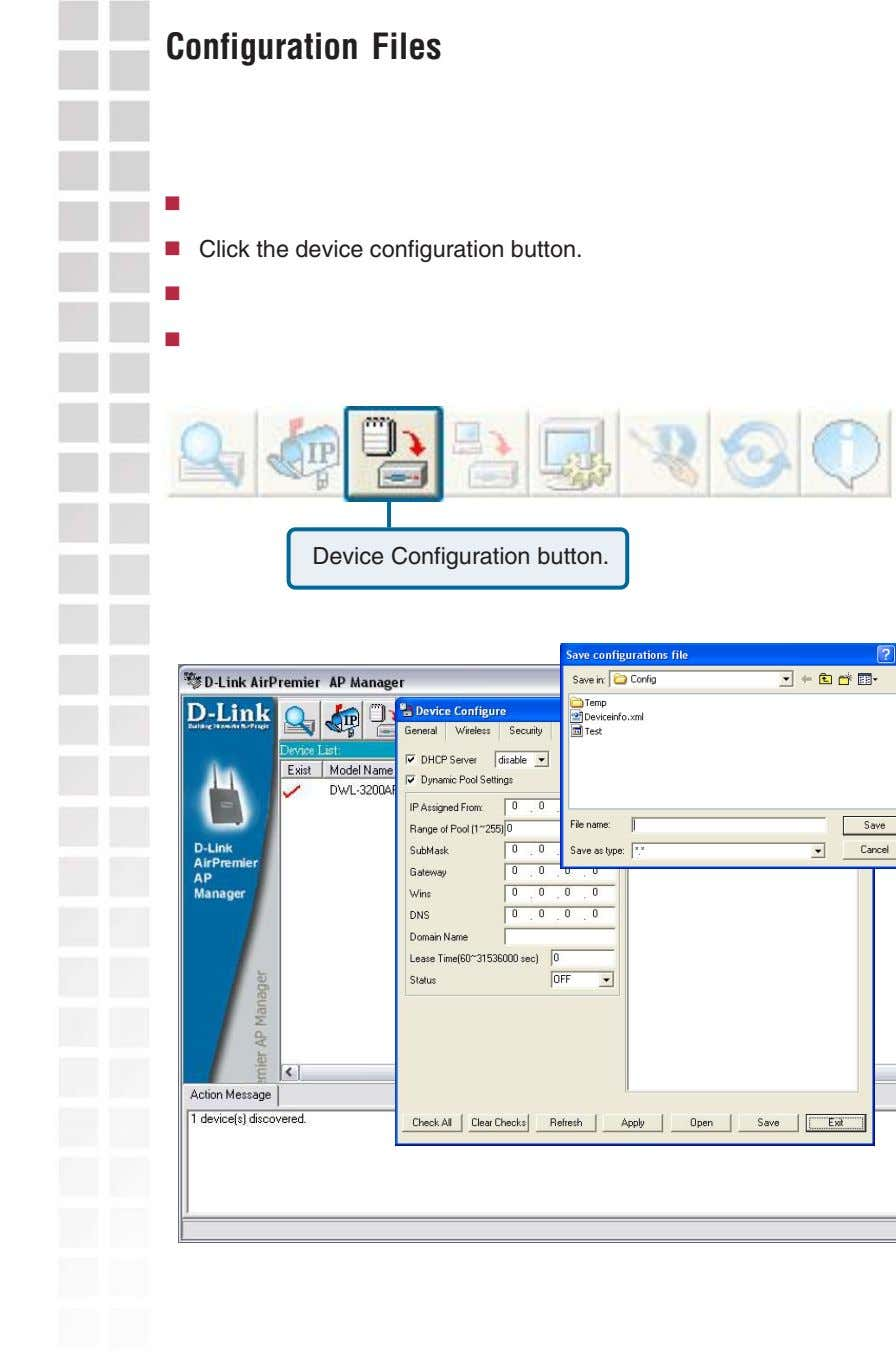 Configuration Files Click the device configuration button. Device Configuration button.