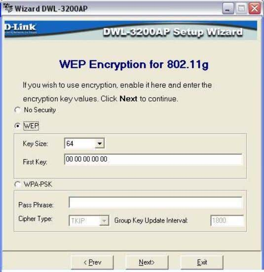 Click Next. If you want to enable Encryption, enter the Encryption values here. Click Next. D-Link