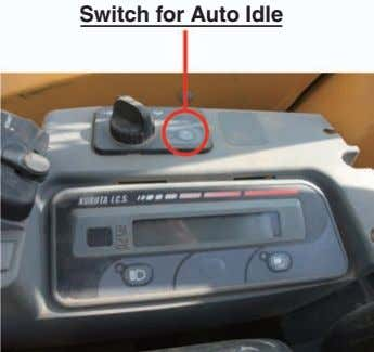 Switch for Auto Idle