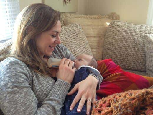Juliana Keeping's sister Laura Wetzel with Juliana's son Eli Ellison. titutes stay down the way.
