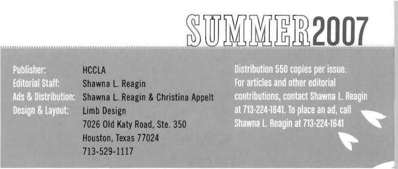 HCCLA Shawna l. Shawna l. Reagin Reagin &Christina Appelt limb Design 7026 Old Katy Road,