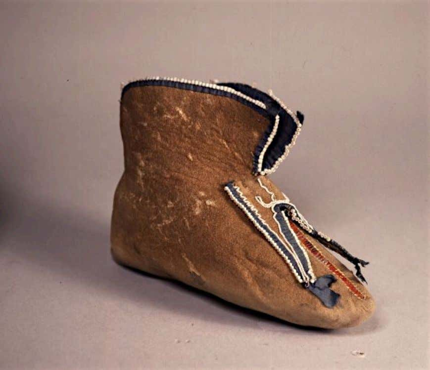 Algonquian Moose Skin Moccasin from the Studio of the Artist, Benjamin West c. 1750 -