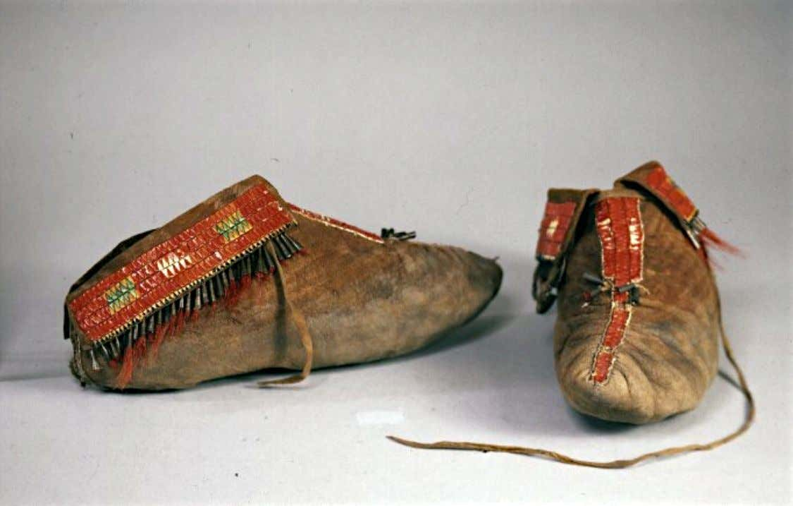 Northeast American Moccasins with Porcupine Quill From the Studio of the Artist, Benjamin West, and