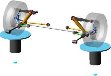 in the model. Figure 2 The front suspension model. Figure 3 The rear Multi-links suspension model.