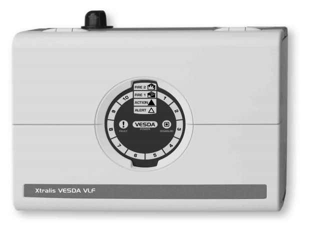 VESDA VLF The VESDA VLF-500 detector is a very early warning smoke detector designed to protect