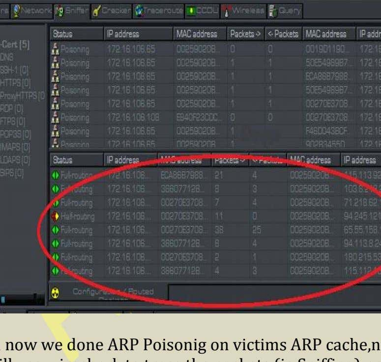 see this image it will clear that ARP Poisoning and routing So till now we done