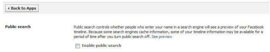Edit your settings under Apps and Websites In the bottom look for Public Search Copyright www.cyber-worldd.blogspot.in