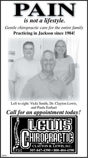 PAIN is not a lifestyle. Gentle chiropractic care for the entire family Practicing in Jackson since