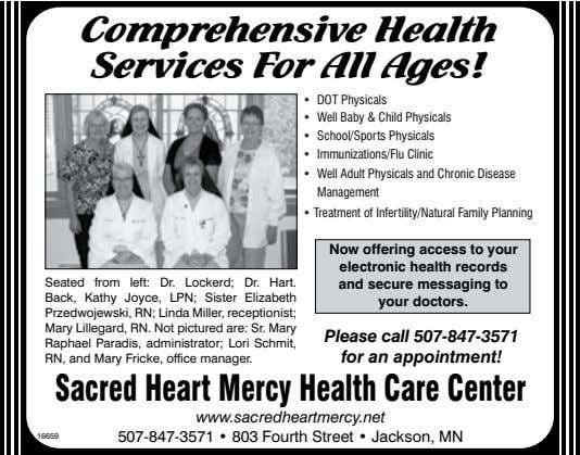 Comprehensive Health Services For All Ages! • DOT Physicals • Well Baby & Child Physicals •