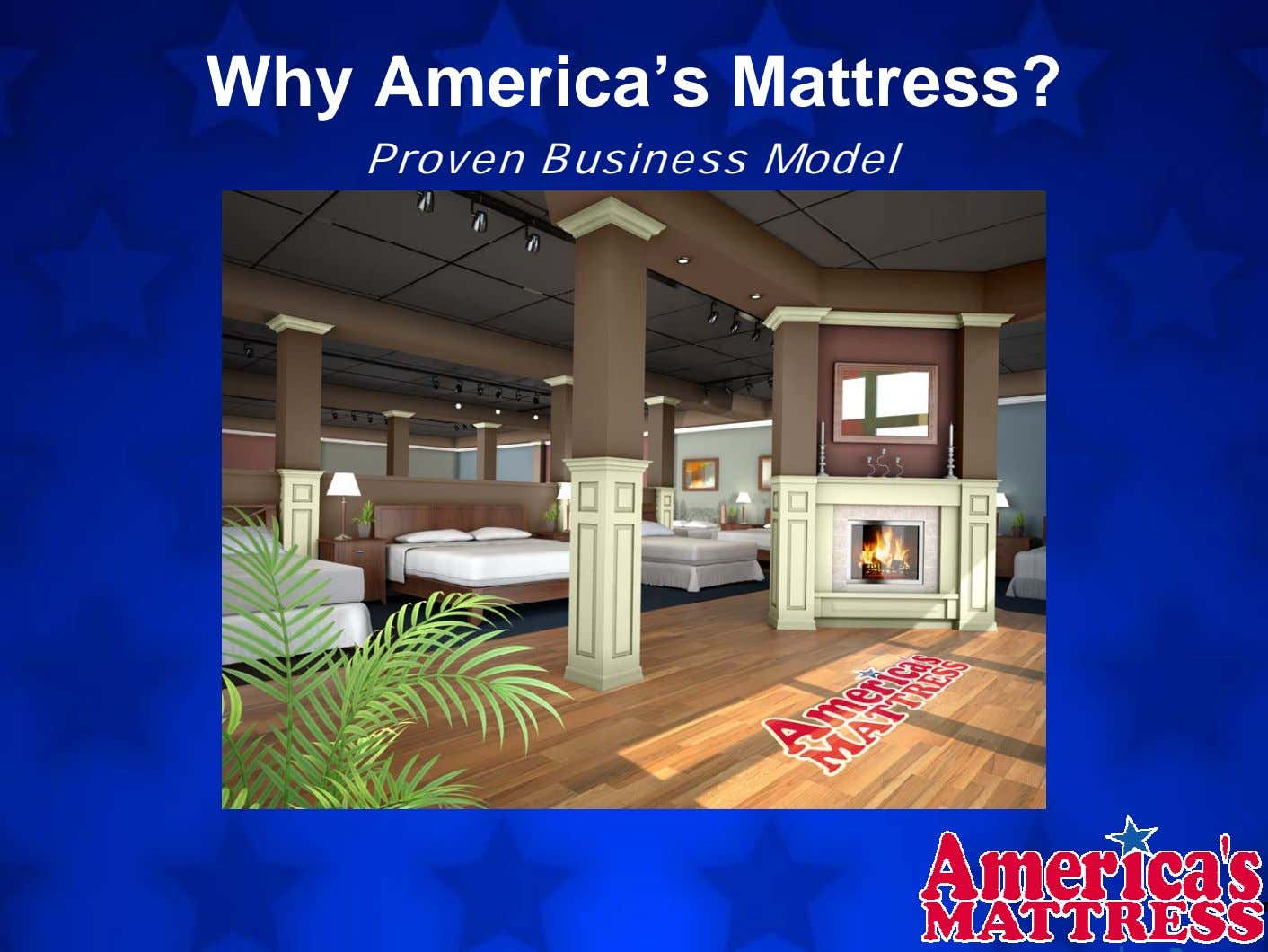 Why America's Mattress? Proven Business Model