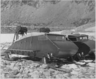 Vehiclesusedbythe1930expedition (stored).