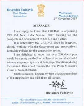 """CREDAI's preeminence as the apex organization of real estate developers depends on being ahead of"