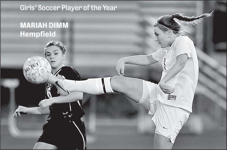 Girls' Soccer Player of the Year MARIAH DIMM Hempfield