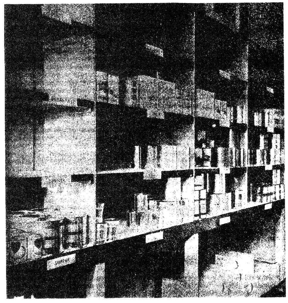 Figure 12. Storage of nonperishable subsistence. 35