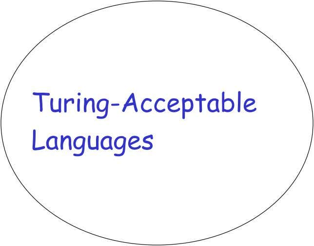 Turing-Acceptable Languages