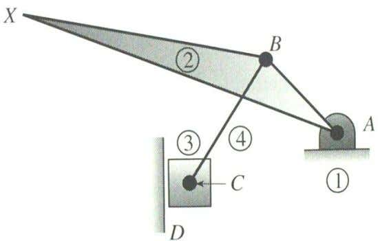 as point of interest X . 5. Draw the Kinematic Diagram The kinematic diagram is given: