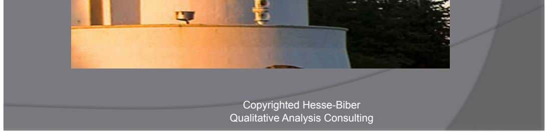 Copyrighted Hesse-Biber Qualitative Analysis Consulting Image FROM: