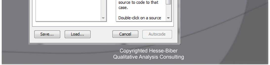 Auto Code: Choose Sources Copyrighted Hesse-Biber Qualitative Analysis Consulting