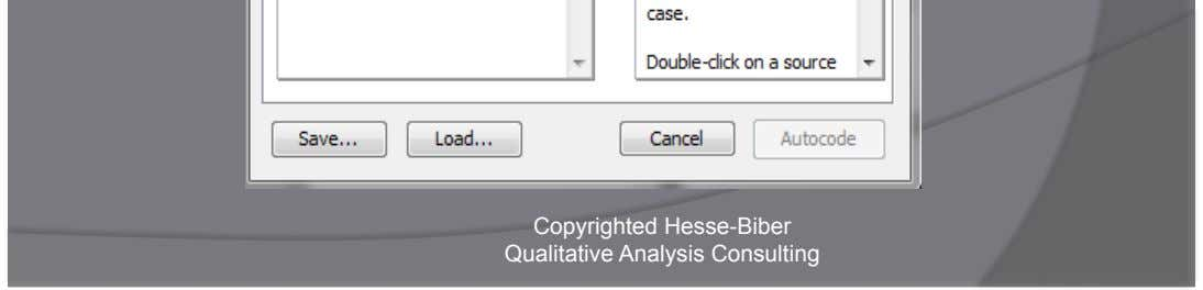 Auto Code: Choose Phrases Copyrighted Hesse-Biber Qualitative Analysis Consulting