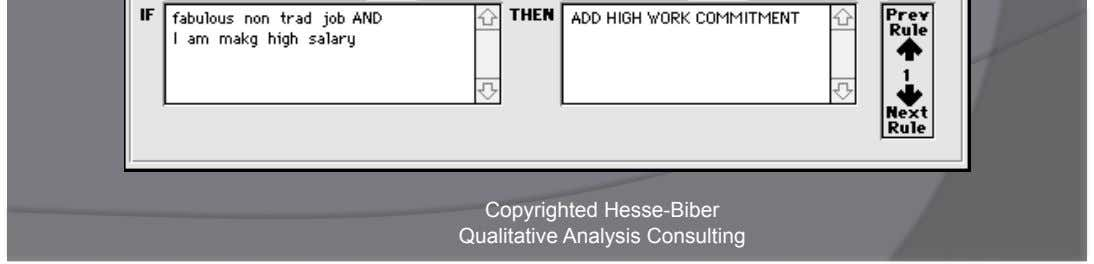 Hypothesis Tester & Theory Generator Copyrighted Hesse-Biber Qualitative Analysis Consulting