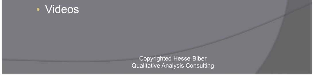 focus groups, consultation    Photos    Videos Copyrighted Hesse-Biber Qualitative Analysis Consulting