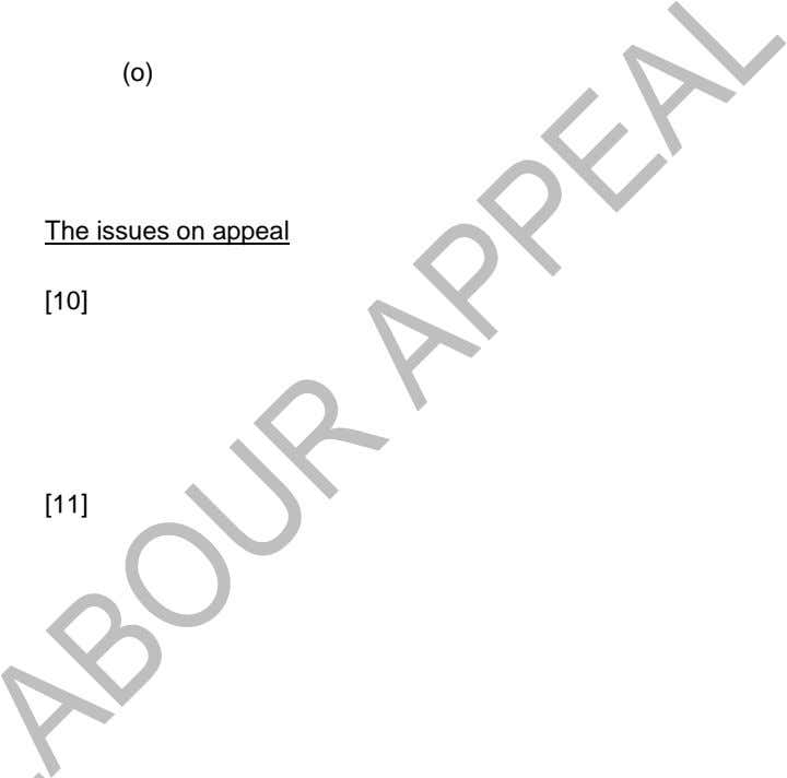 (o) The issues on appeal [10] [11]