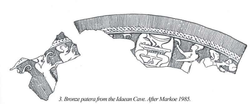 3. Bronze patera from the Idaean Cave. After Markoe 1985.