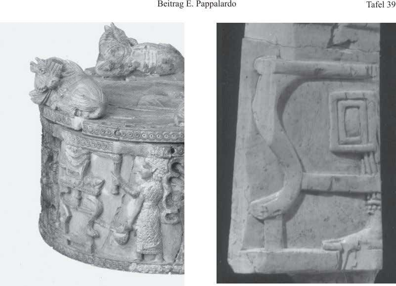 1. Nimrud AJ well Pyxis (particular). After Invernizzi 1992. 2. Ivory panel from SW 37