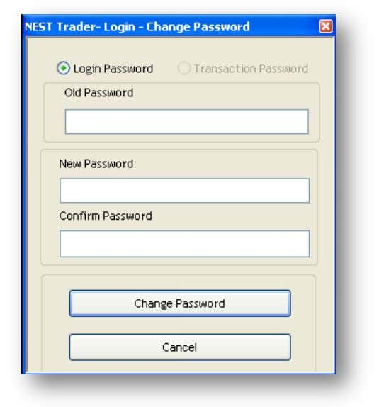 How to change password? treme Trader 1. Click on File from the menu bar and then