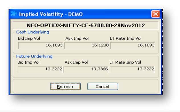 How to view Options Calculator? treme Trader Right click on any scrip in the market watch