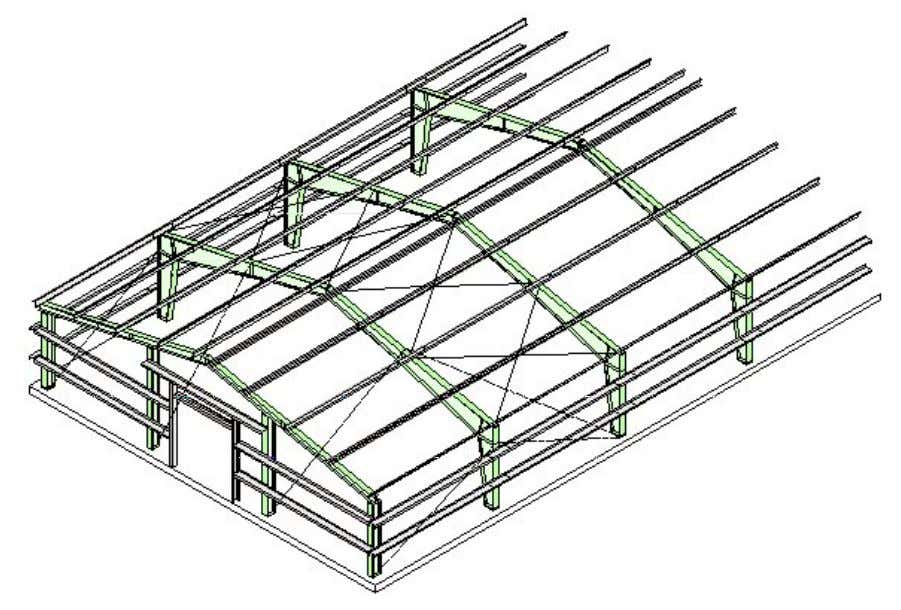 PEB STEEL FRAMING ERECTION PROCEDURE STEP NO. 7 SEQUENCE 1. Complete erection of main and secondary