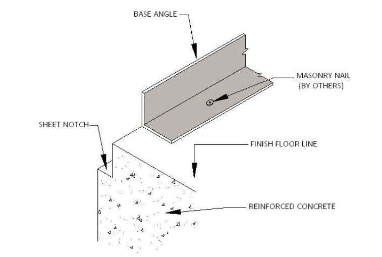 PEB STEEL FRAMING BASE ANGLE / BASE CHANNEL Base channel is substituted for base angle when