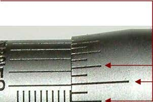 thousandths of an inch. The measurement below is 0.225. Copyright © 15Jan2011, Stephen M. Golden 2
