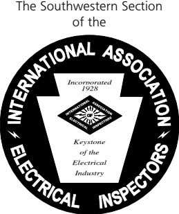 The Southwestern Section of the Incorporated 1928 OF Keystone of the Electrical Industry