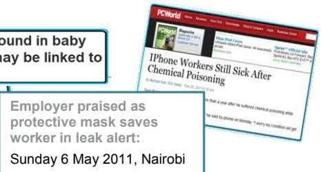 Employer praised as protective mask saves worker in leak alert: Sunday 6 May 2011, Nairobi