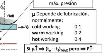  Depende de lubricación, normalmente: cold working 0.1 warm working 0.2 hot working 0.4 Si