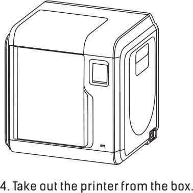 4. Take out the printer from the box.