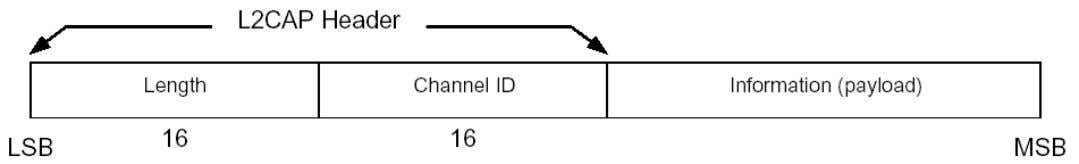 Channel ID: 2 octets. Identifies the destination channel end points of the packet Information: 0 to