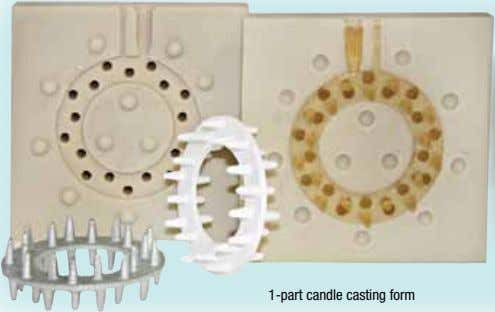 1-part candle casting form