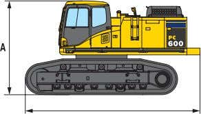 D IMENSIONS E XCAVATOR UPPER STRUCTURE + UNDERCARRIAGE UNDERCARRIAGE   PC600-8 PC600LC-8 Overall width