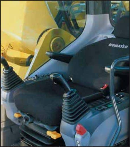 air flow function keeps the inside of the cab comfortable throughout the year. Seat with headrest